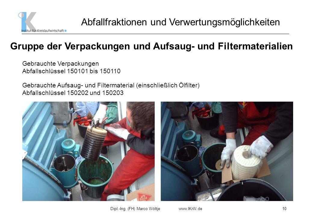 Gruppe der Verpackungen und Aufsaug- und Filtermaterialien