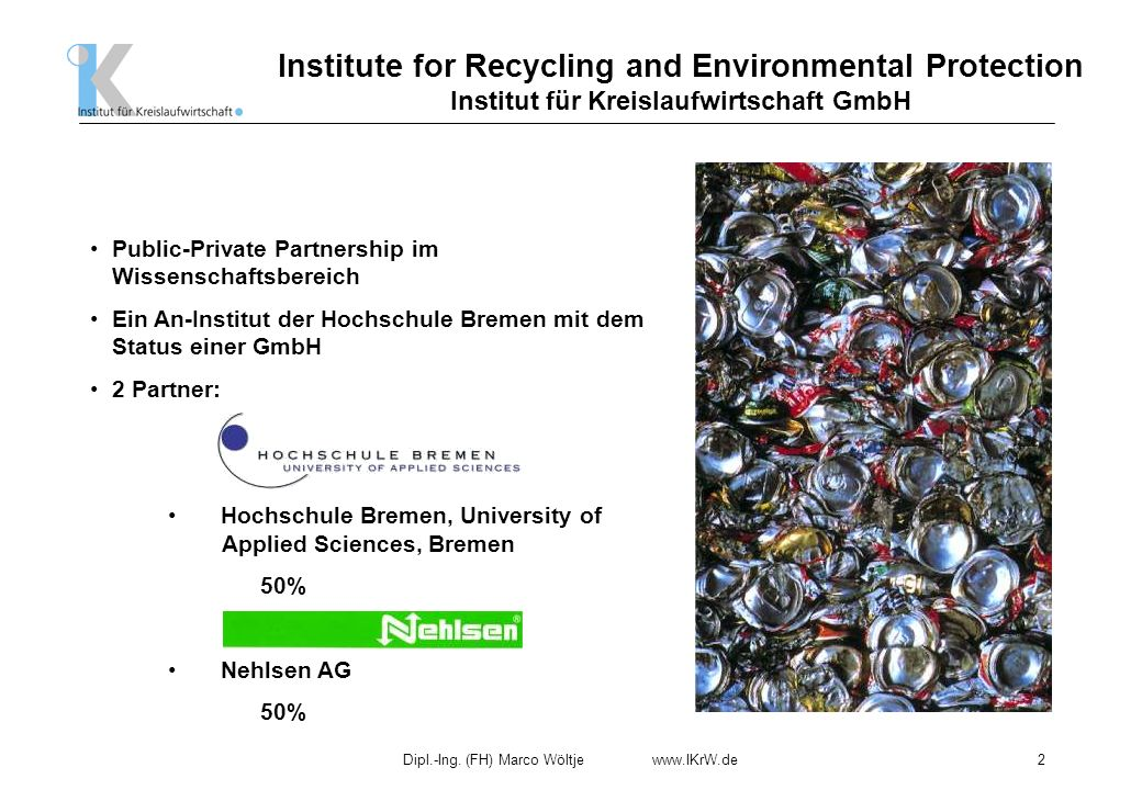 Institute for Recycling and Environmental Protection