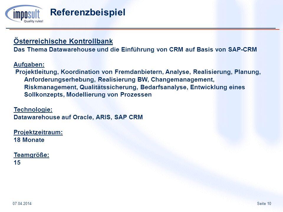 Referenzbeispiel Österreichische Kontrollbank