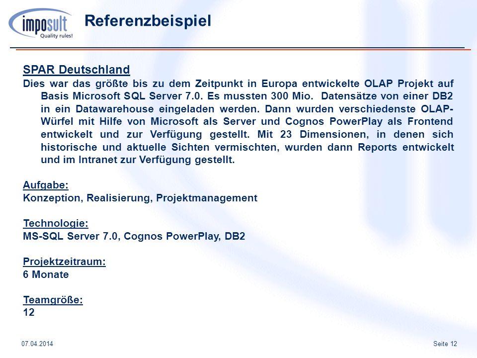 Referenzbeispiel SPAR Deutschland