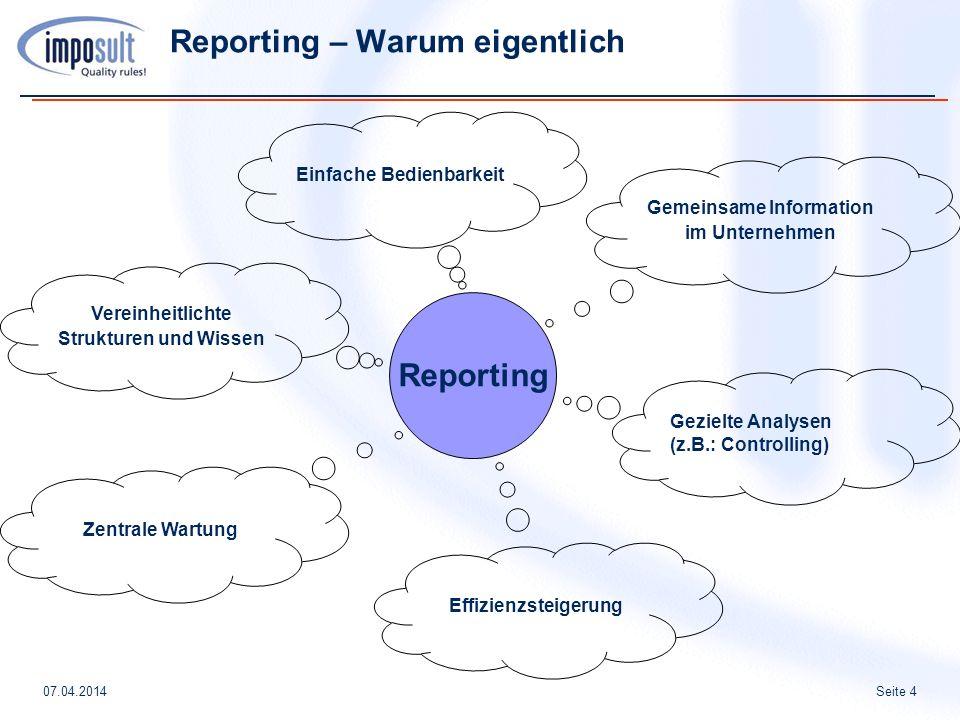 Reporting – Warum eigentlich