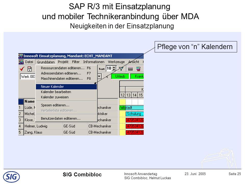 SAP R/3 mit Einsatzplanung und mobiler Technikeranbindung über MDA