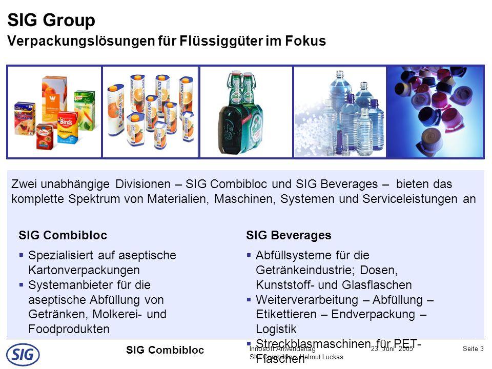 SIG Group Verpackungslösungen für Flüssiggüter im Fokus