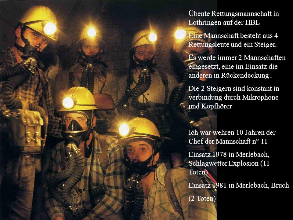 Übente Rettungsmannschaft in Lothringen auf der HBL