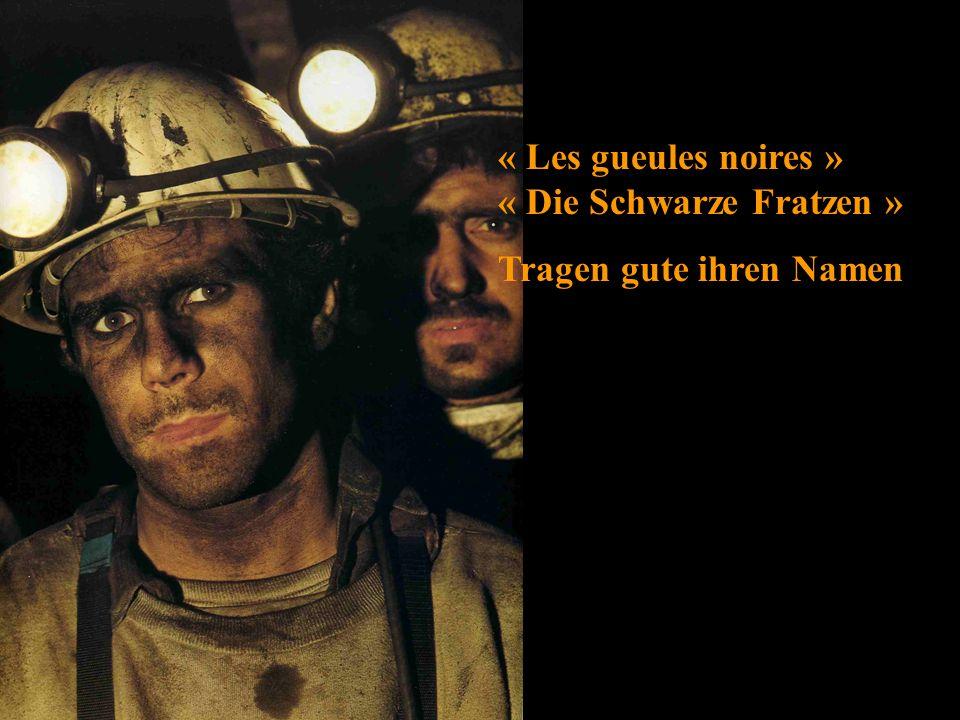 « Les gueules noires » « Die Schwarze Fratzen »