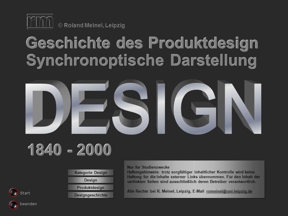 DESIGN Geschichte des Produktdesign Synchronoptische Darstellung