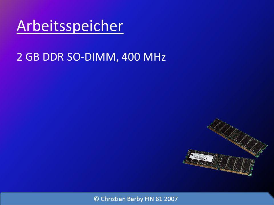 Arbeitsspeicher 2 GB DDR SO-DIMM, 400 MHz