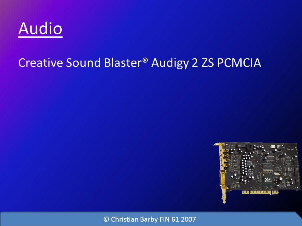Audio Creative Sound Blaster® Audigy 2 ZS PCMCIA