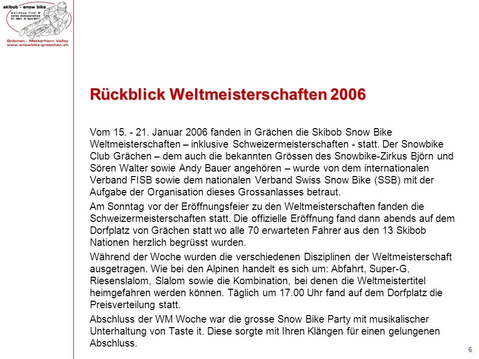 Rückblick Weltmeisterschaften 2006