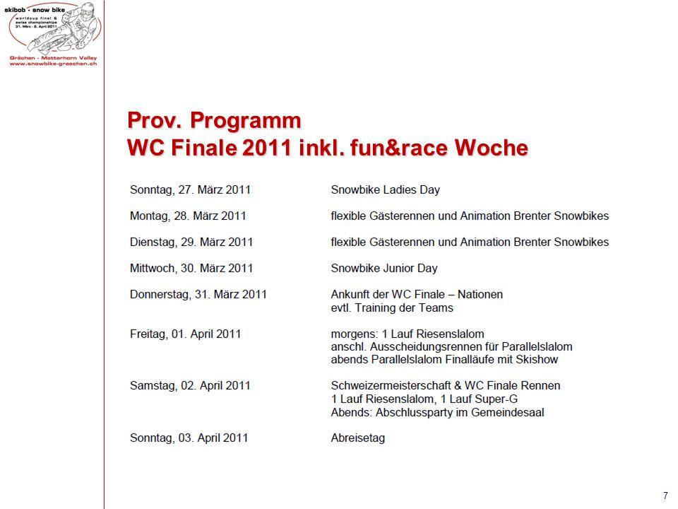 Prov. Programm WC Finale 2011 inkl. fun&race Woche