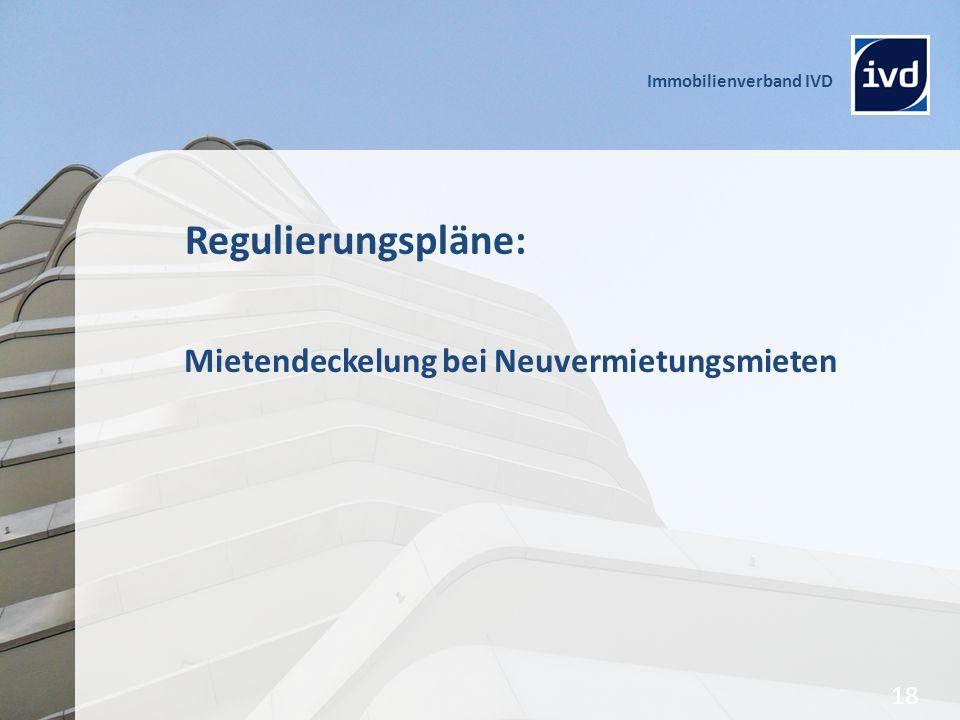 Regulierungspläne: Mietendeckelung bei Neuvermietungsmieten