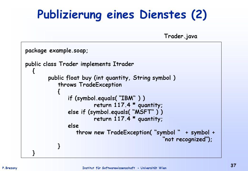 Publizierung eines Dienstes (2)