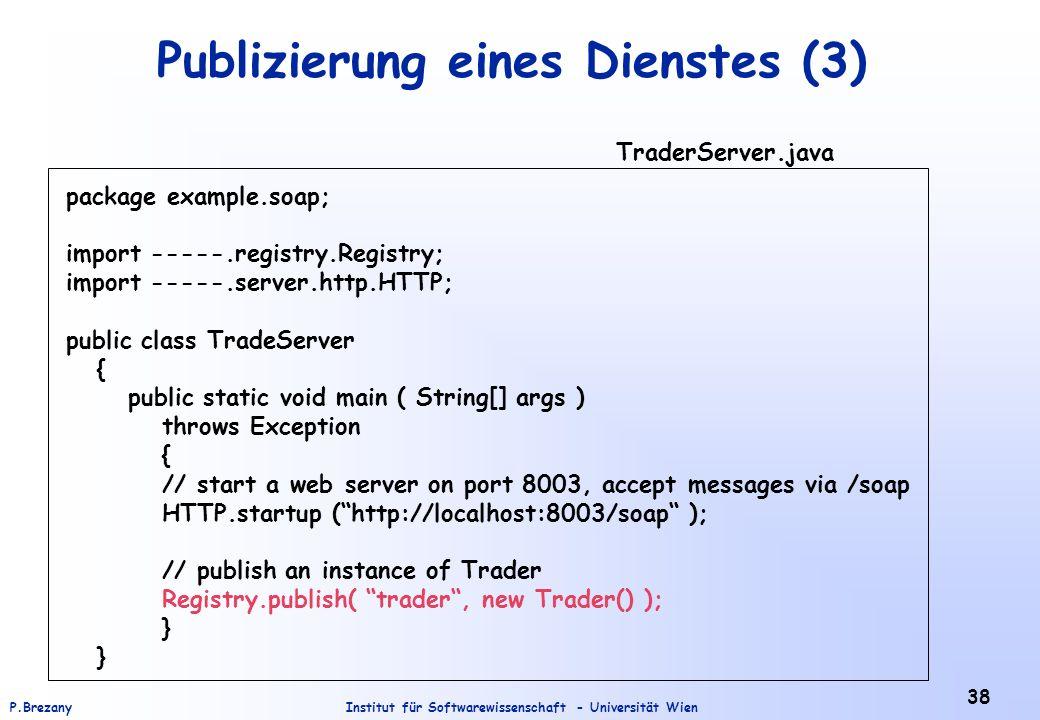 Publizierung eines Dienstes (3)