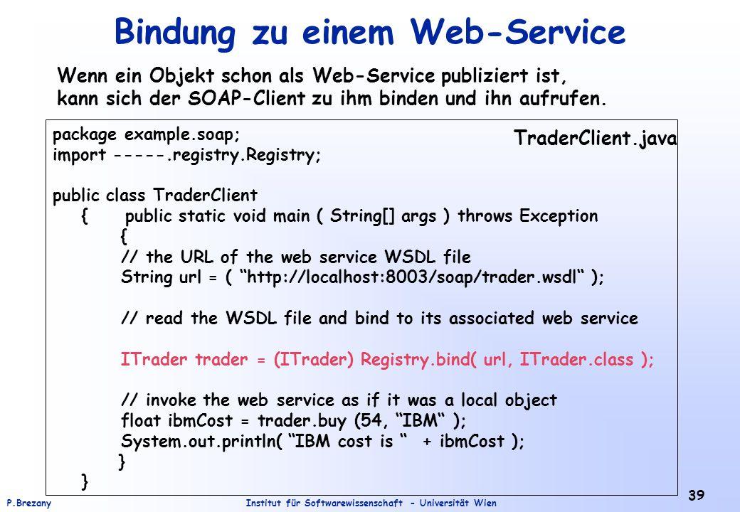 Bindung zu einem Web-Service