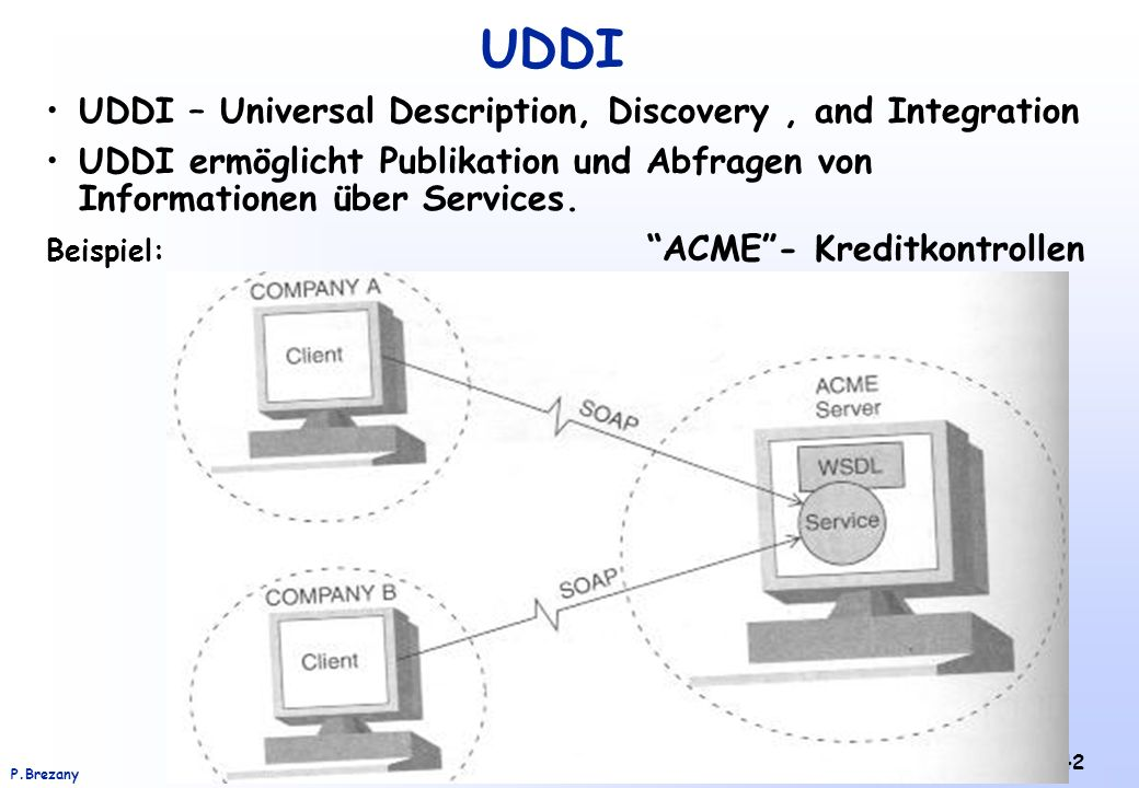 UDDI UDDI – Universal Description, Discovery , and Integration