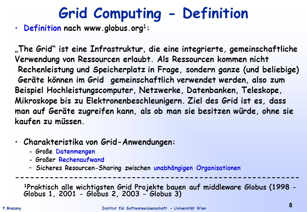 Grid Computing - Definition