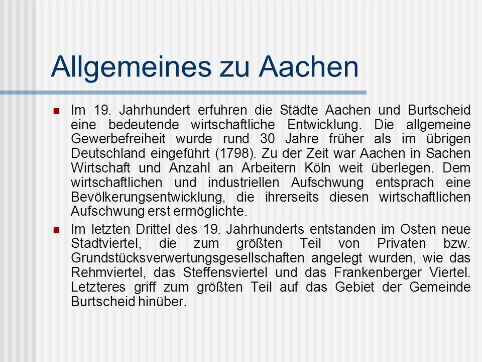 Allgemeines zu Aachen