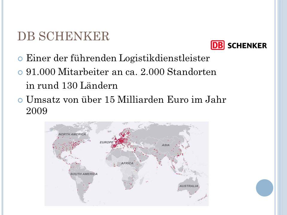 DB SCHENKER Einer der führenden Logistikdienstleister