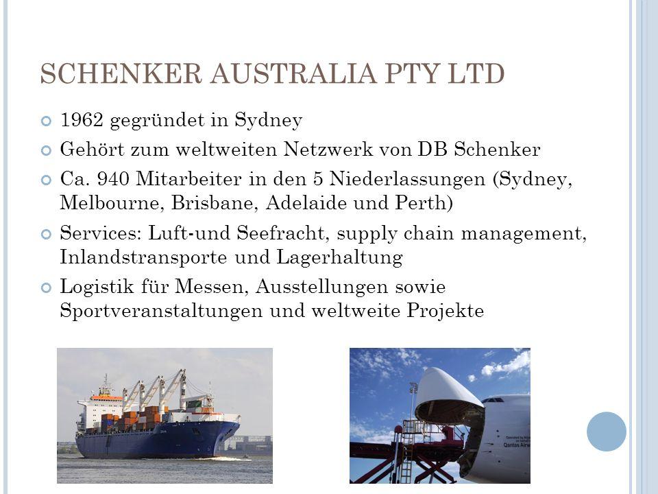 SCHENKER AUSTRALIA PTY LTD