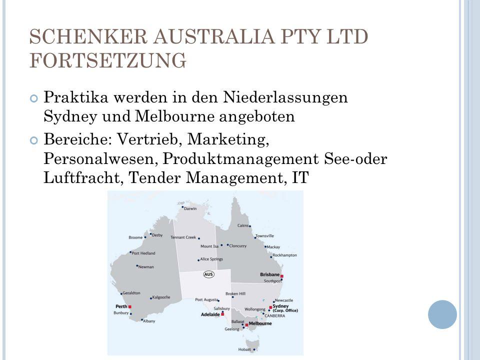 SCHENKER AUSTRALIA PTY LTD FORTSETZUNG