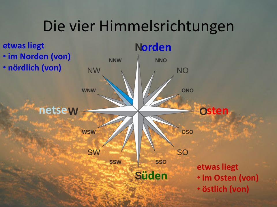 Die vier Himmelsrichtungen