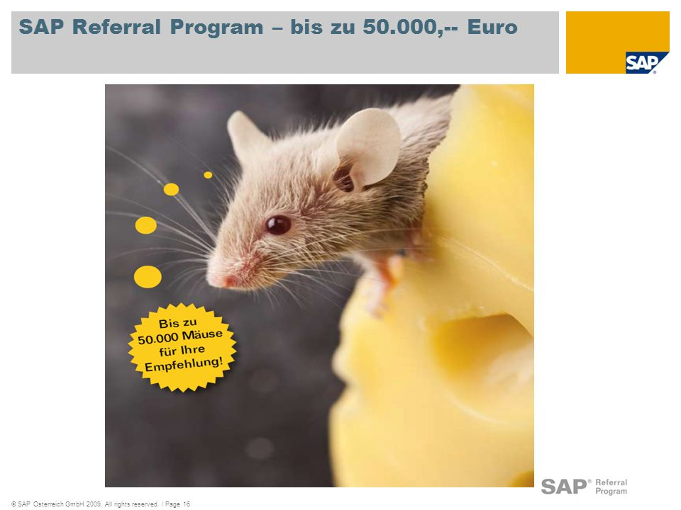 SAP Referral Program – bis zu 50.000,-- Euro