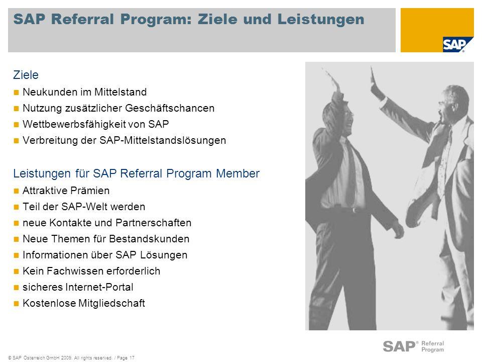 SAP Referral Program: Ziele und Leistungen