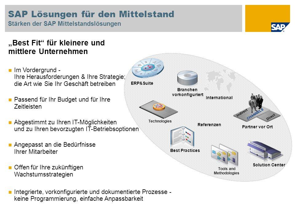 SAP Lösungen für den Mittelstand Stärken der SAP Mittelstandslösungen