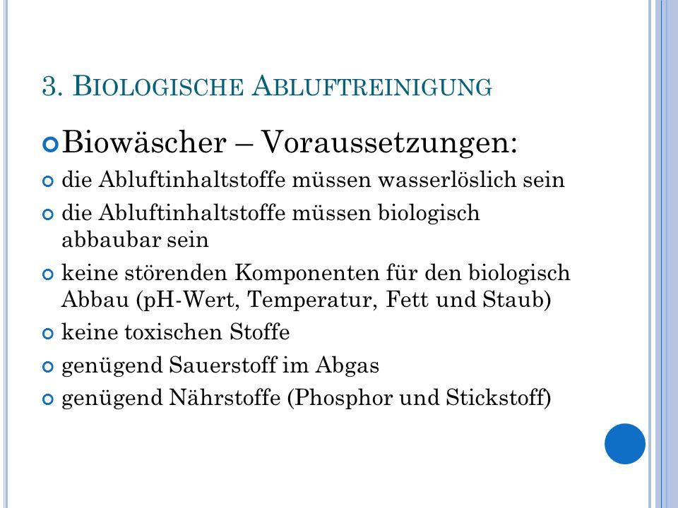 3. Biologische Abluftreinigung