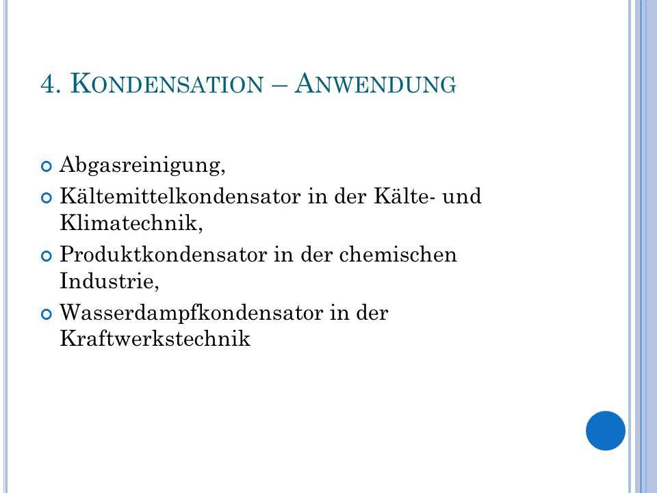 4. Kondensation – Anwendung