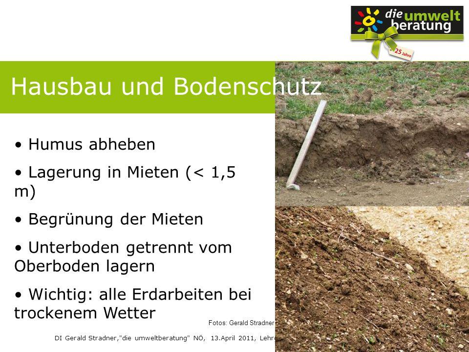 Hausbau und Bodenschutz