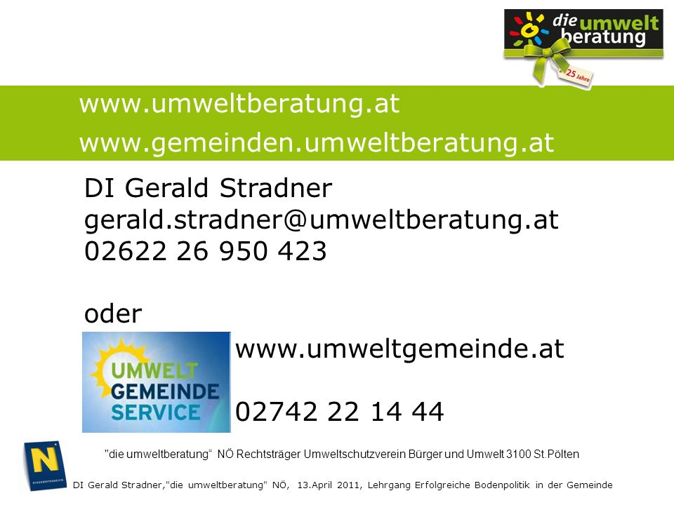 www.umweltberatung.at www.gemeinden.umweltberatung.at