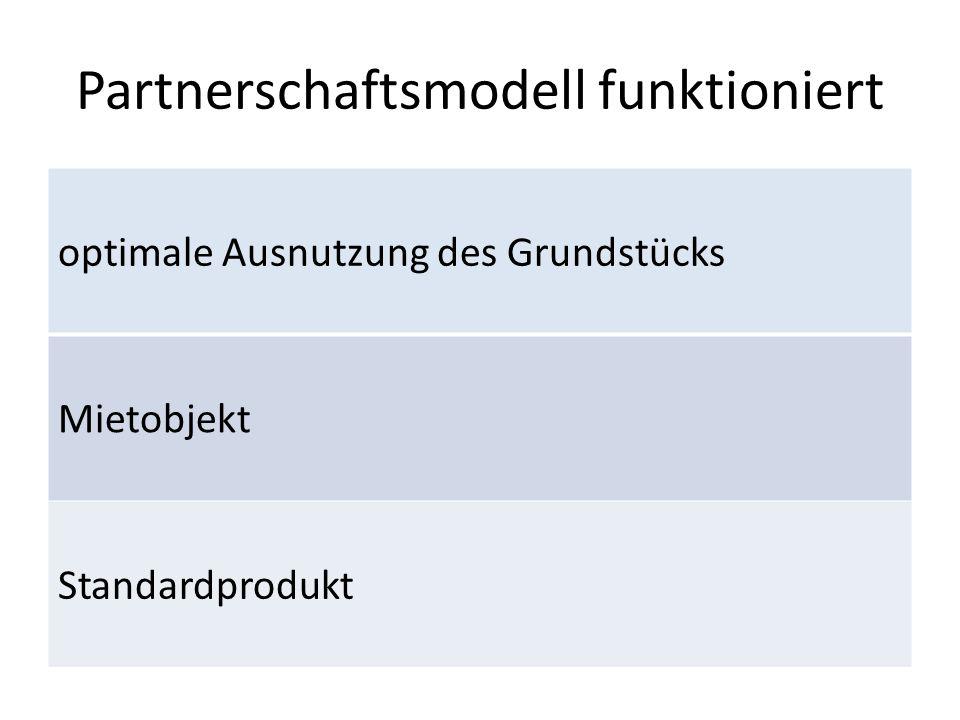 Partnerschaftsmodell funktioniert