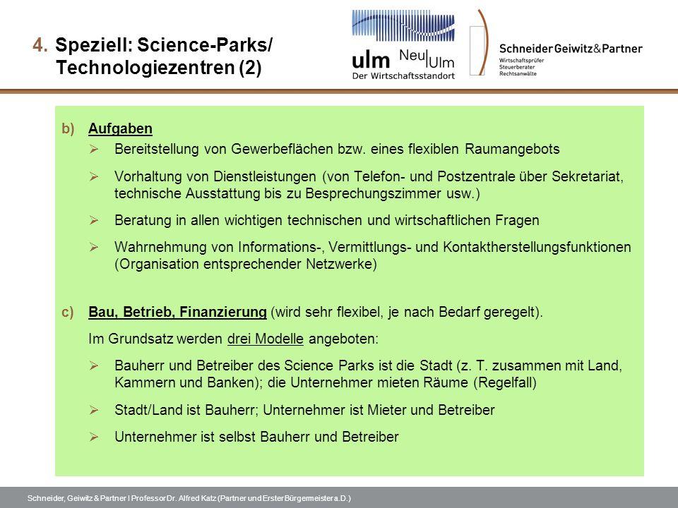 Speziell: Science-Parks/ Technologiezentren (2)