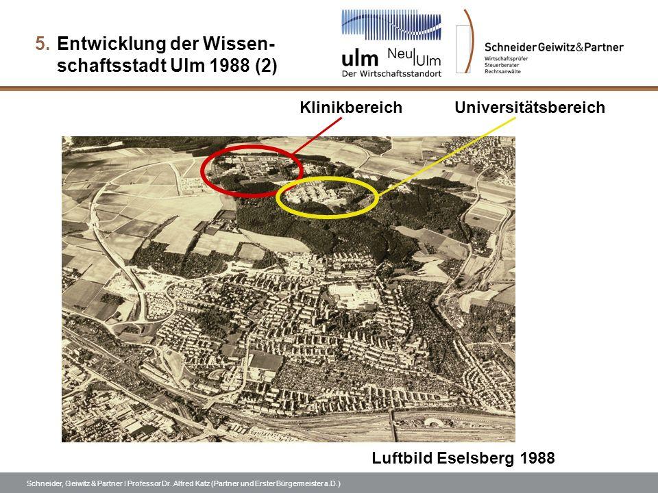 Entwicklung der Wissen- schaftsstadt Ulm 1988 (2)