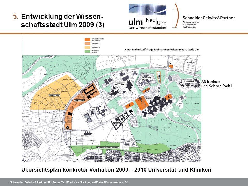 Entwicklung der Wissen- schaftsstadt Ulm 2009 (3)