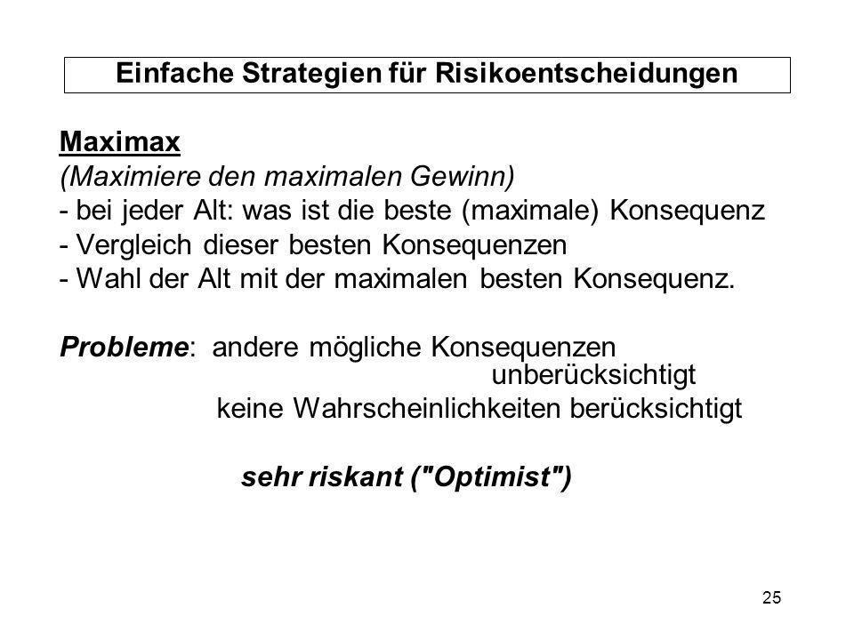 Einfache Strategien für Risikoentscheidungen