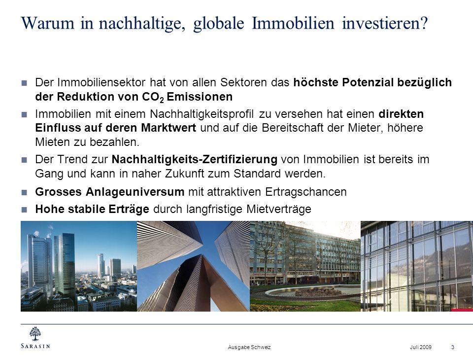 Warum in nachhaltige, globale Immobilien investieren