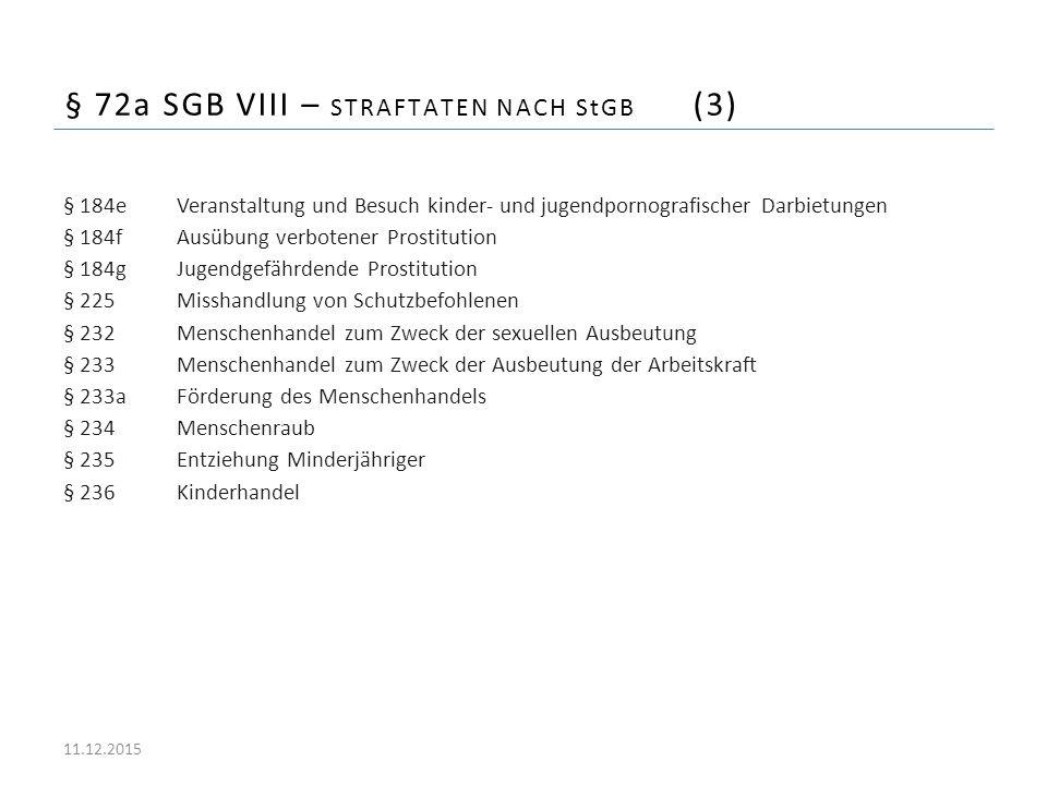 § 72a SGB VIII – Straftaten nach StGB (3)