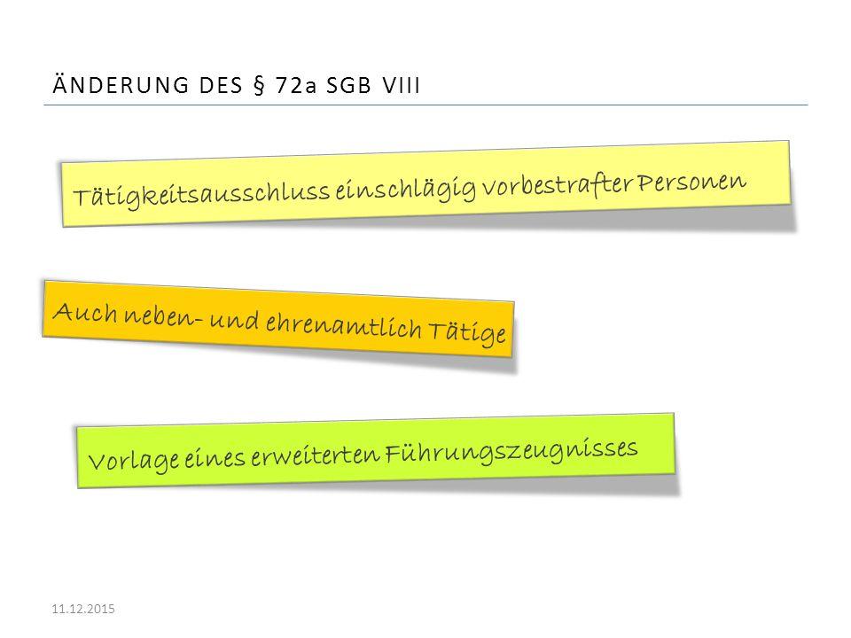 Änderung des § 72a SGB VIII