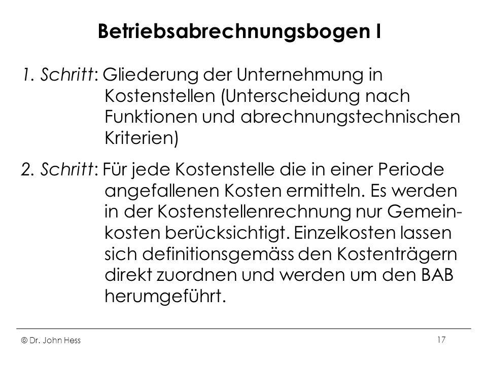 Betriebsabrechnungsbogen I