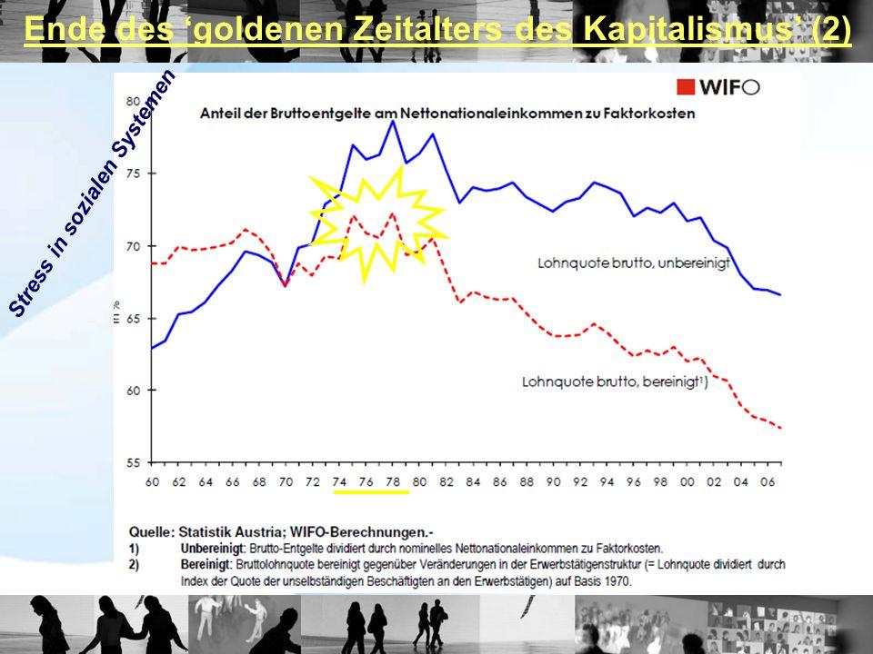 Ende des 'goldenen Zeitalters des Kapitalismus' (2)