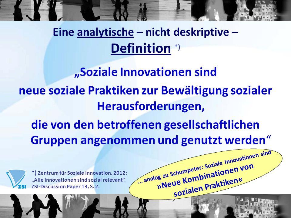 """""""Soziale Innovationen sind"""