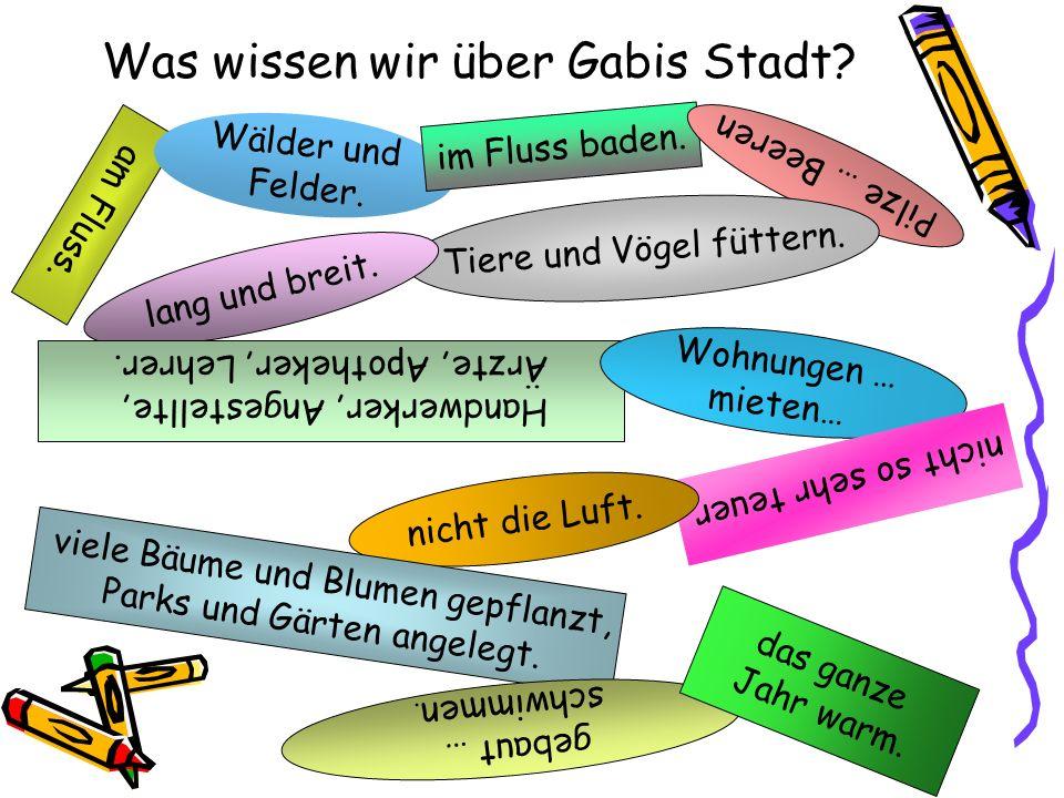 Was wissen wir über Gabis Stadt