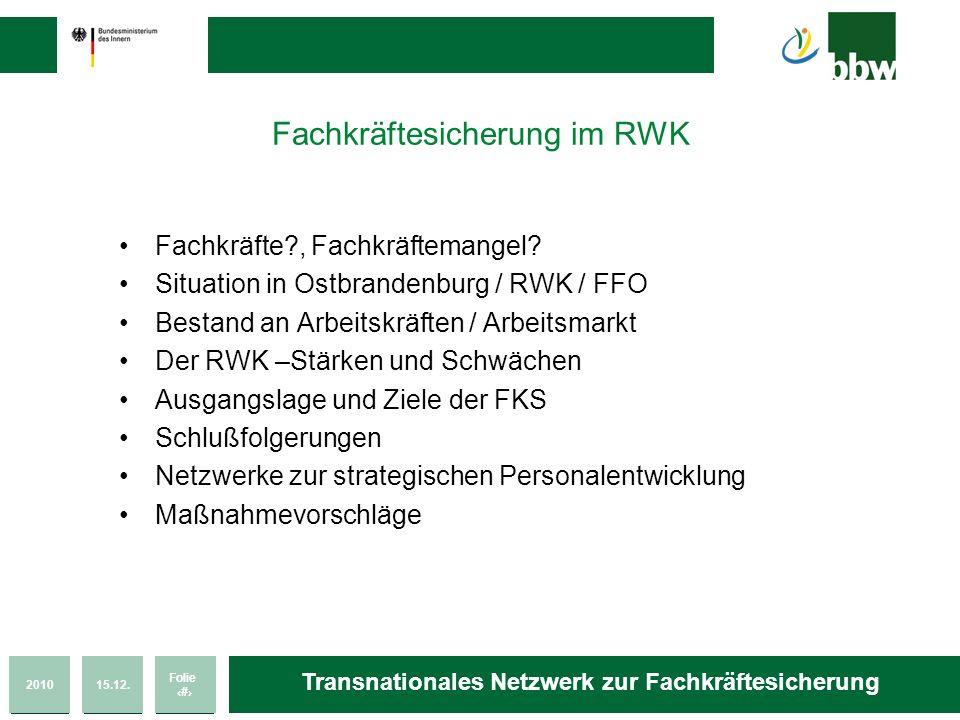 Fachkräftesicherung im RWK