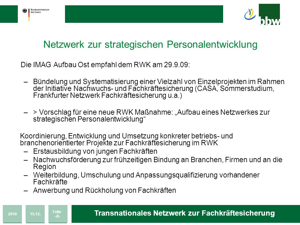 Netzwerk zur strategischen Personalentwicklung