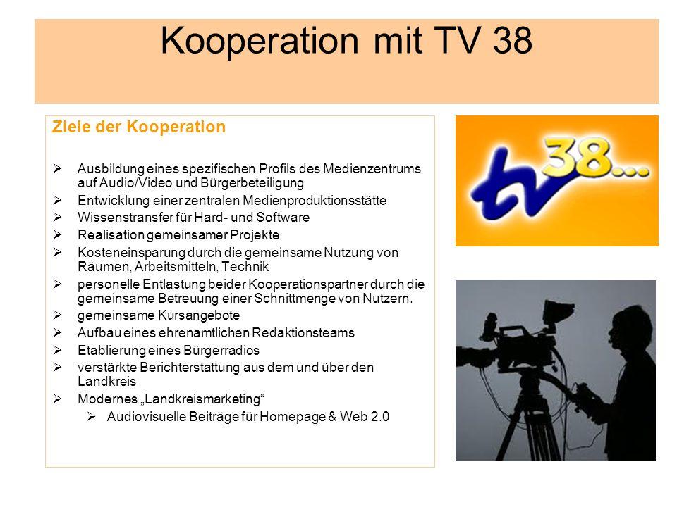 Kooperation mit TV 38 Ziele der Kooperation