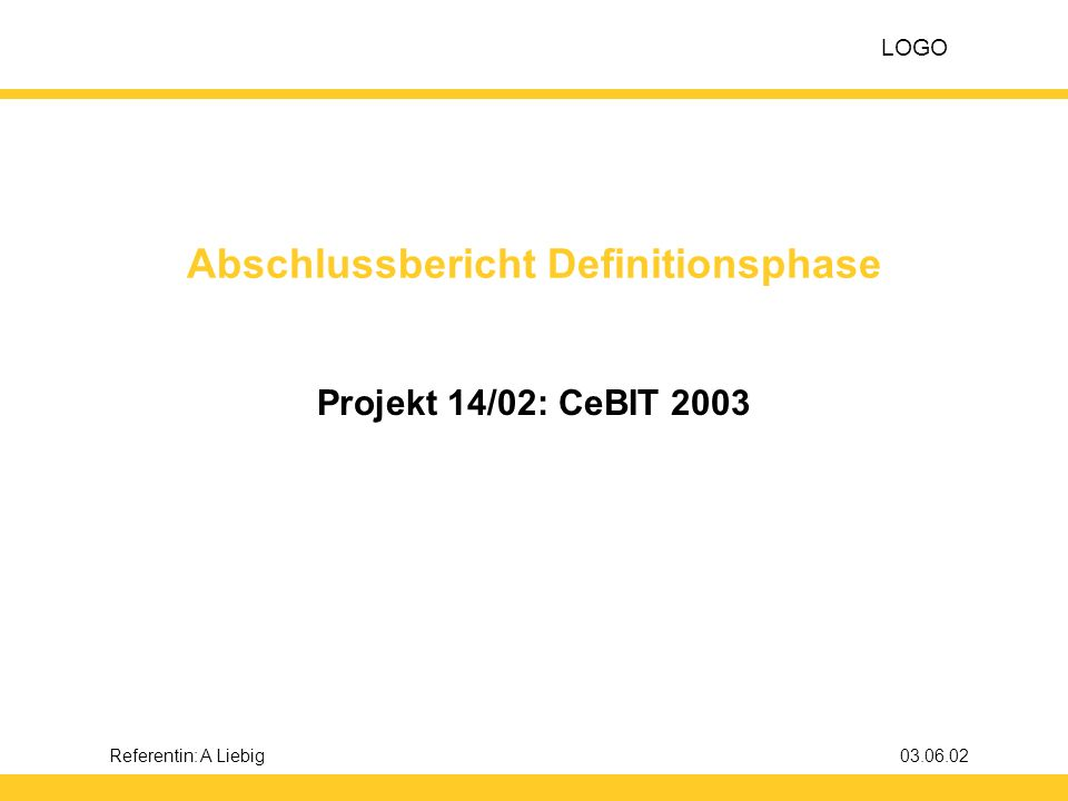 Abschlussbericht Definitionsphase
