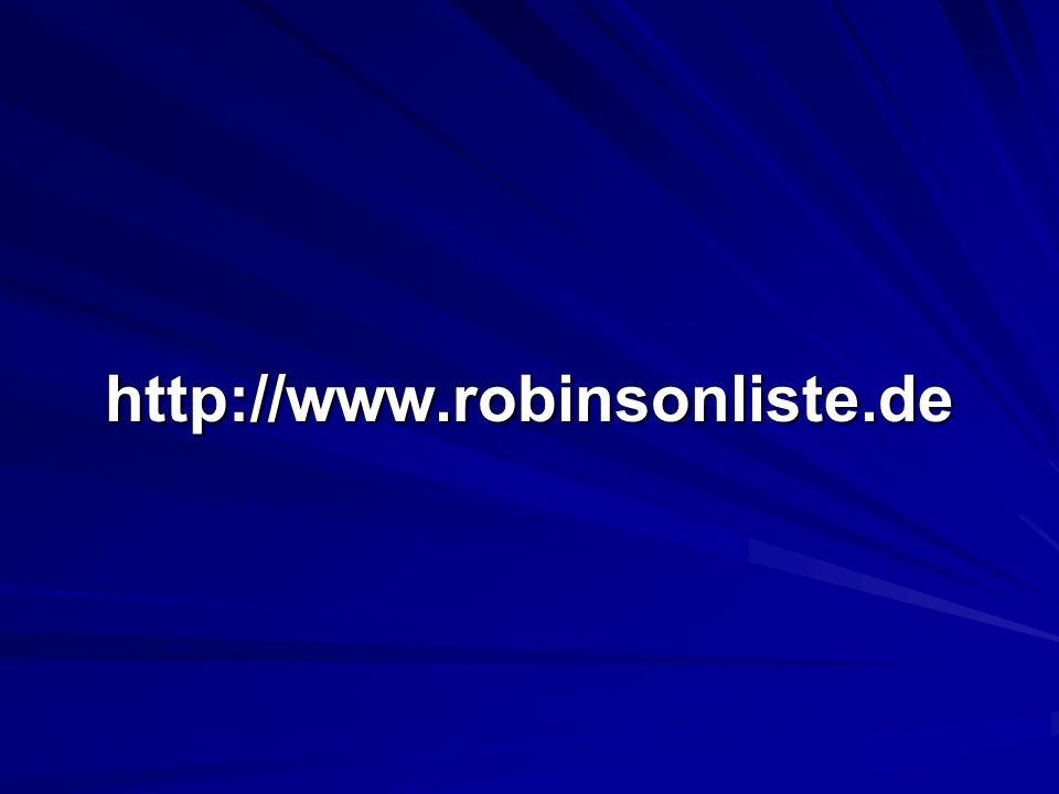 http://www.robinsonliste.de