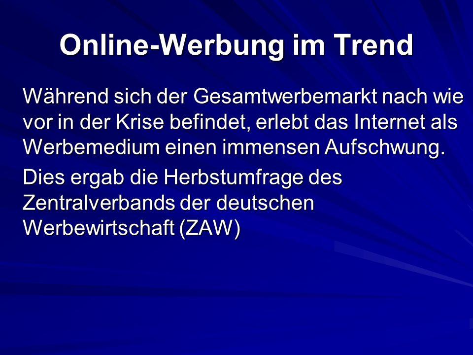 Online-Werbung im Trend